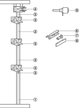 Blum Cabloxx central locking system