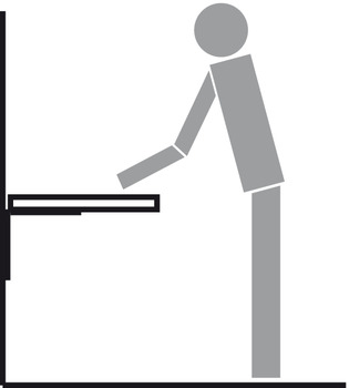 Standing work position