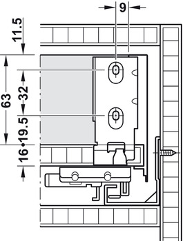 <em>Rear panel installation dimensions</em>