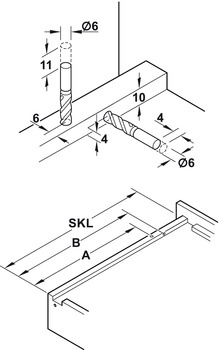 Installation reference for retaining clip