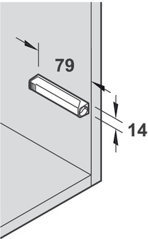 Mounting on hinged doors